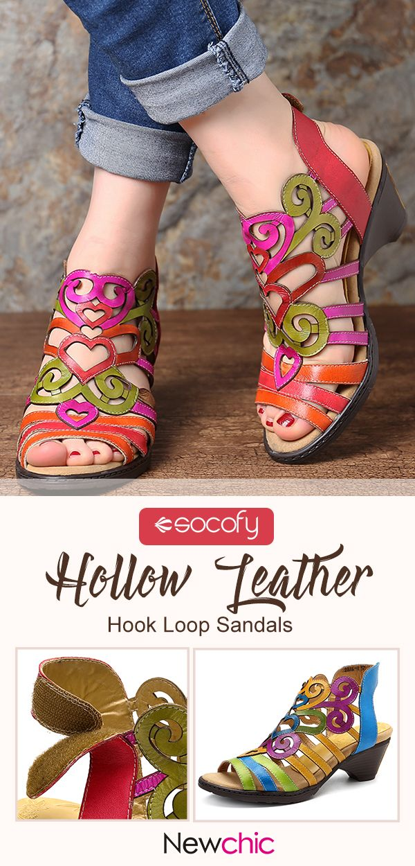 SOCOFY Hollow Genuine Leather Love Shape…