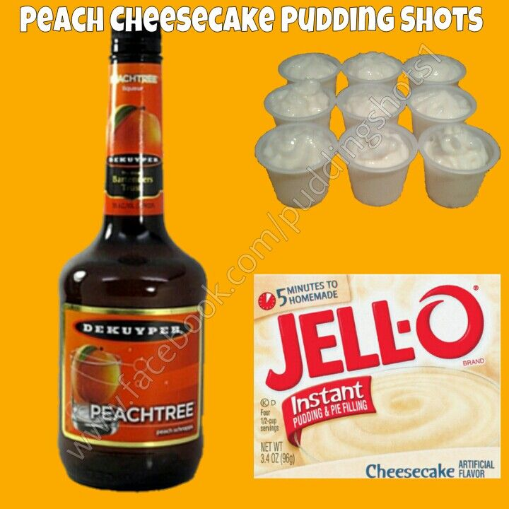 Peach Cheesecake Pudding Shots. See full recipe and more on www.facebook.com/puddingshots1