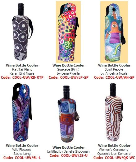 Wine Bottle Coolers (wetsuit)  Price:  $19.00 or 2 for $36.00