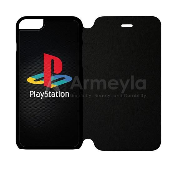 Sony Playstation Logo Dark iPhone 6 Plus/6S Plus Flip Case | armeyla.com