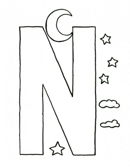 Alphabet-Letter-N-Craft-Template-For-Kids