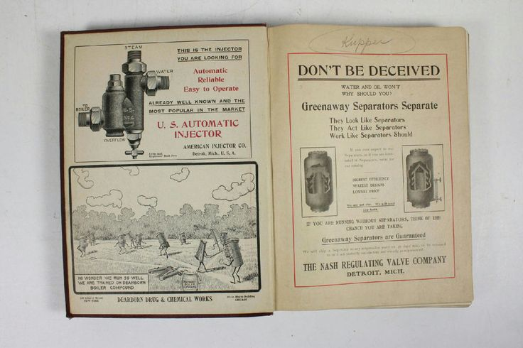 Antique Illustrated Ohio Stationary Engineers Directory Book