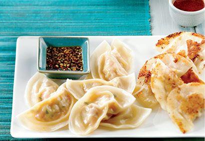 Dumplings aux crevettes et aux poireaux #recette