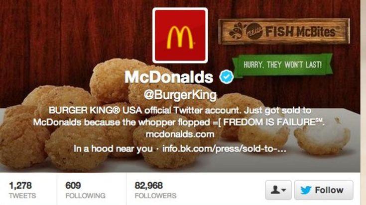 Hackeada la cuenta de #BurgerKing #CrisisOnLine