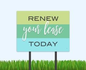 Simple and sweet renewal bandit signs work! #residentretention #renewals #occupancy