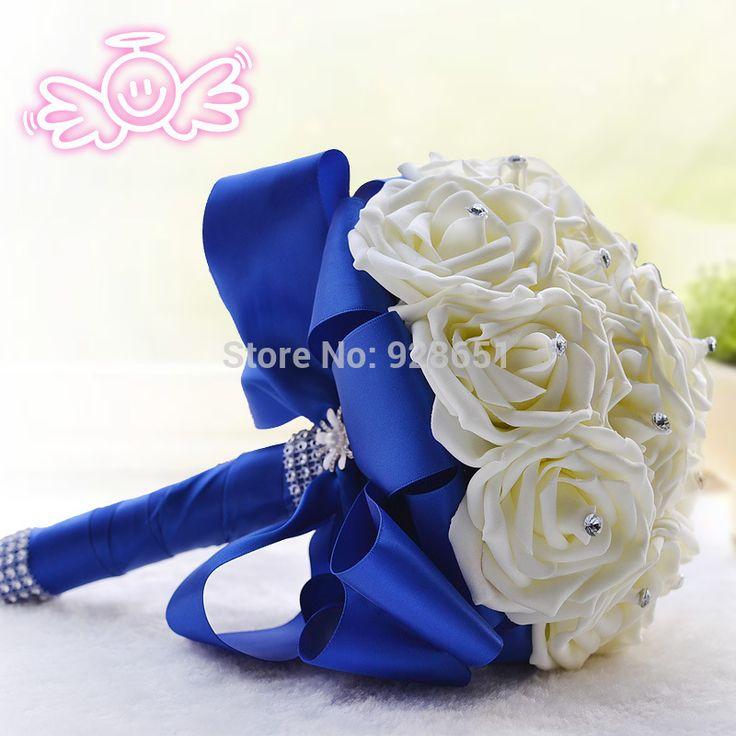 bouquet de mariage blanc et bleu - Recherche Google