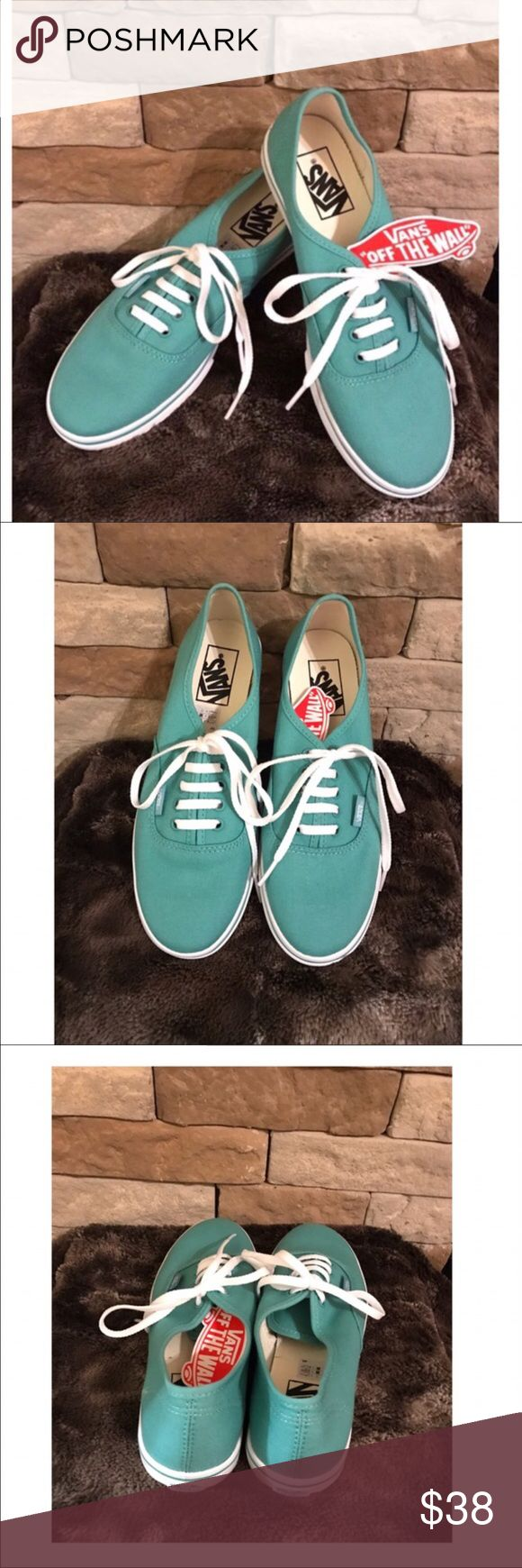 New Mint Green Vans The Authentic Lo Pro, a low top canvas lace-up with a slim silhouette.  Beautiful mint green color.  NWT Vans Shoes Athletic Shoes