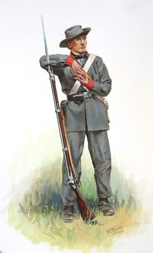 ACW Confederate: Mississipi Confederate Infantry, by Don Troiani. (www.dontroiani.com)