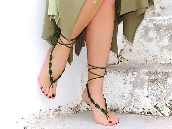 Barefoot fairy sandals :)