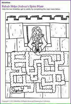 Rahab Helps Joshuas Spies Maze