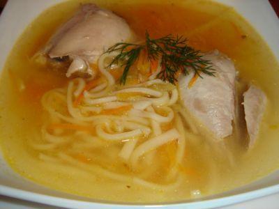 Домашний суп-лапша на курочке
