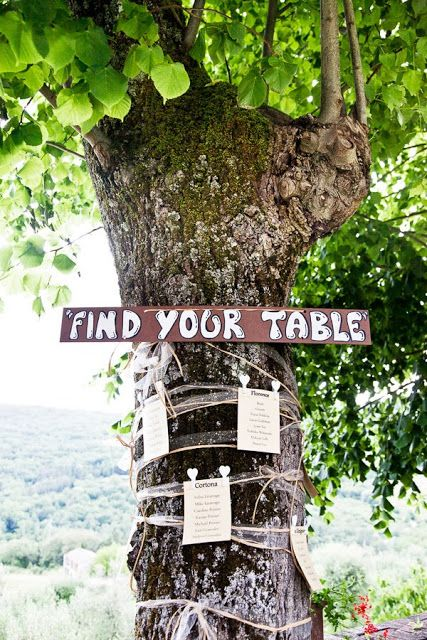 Tableau de Marriage - Table Plan Idea - Table plan on a tree