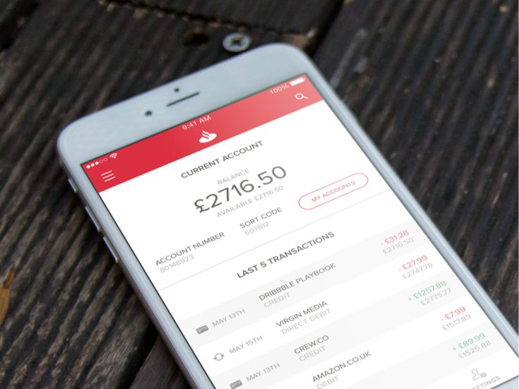 Santander iOS App Concept on Behance