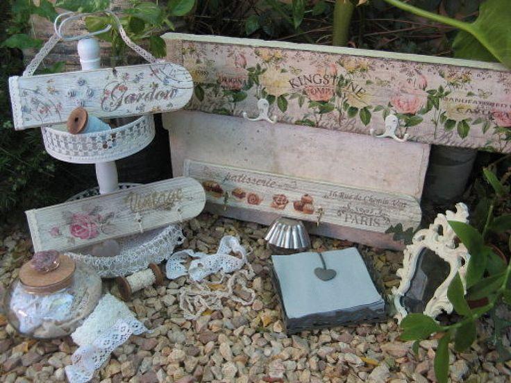T cnicas para decorar muebles decoupage craquelado y for Decoupage con servilletas en muebles