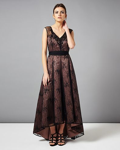 Avalia Lace Full Length Dress