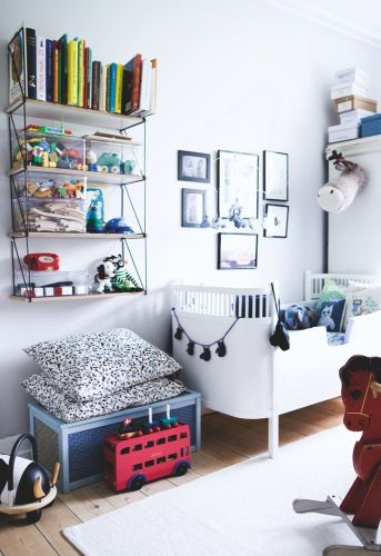 the boo and the boy: eclectic kids' rooms: Home Magazine, Children Rooms, Kids Spaces, Søde Børneværelser, Boys Rooms, Boys Decor, Kids Rooms Organizations, Boligmagasinet, Baby Rooms