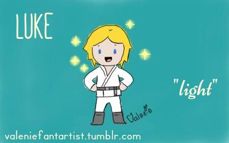 ☆ Valenie ☆ Name Meaning - Luke by valeniefantartist on Tumblr http://valeniefantartist.tumblr.com/