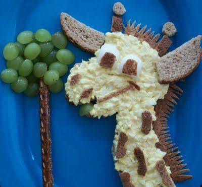 Giraffe egg salad!