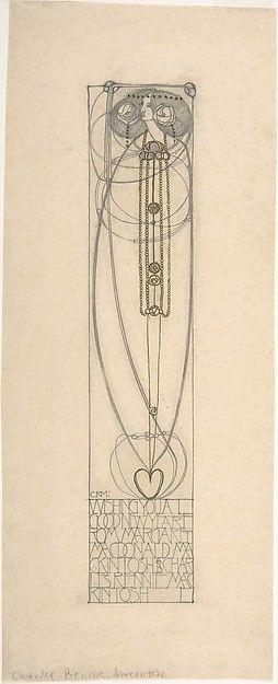 Drawing for a New Year's Card Charles Rennie Mackintosh (British, Glasgow, Scotland 1868–1928 London)
