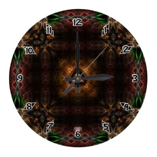 Cube OF Light Kaleidoscope Art Wallclock $28.10 - Click Here http://xzendor7.com/xzendor7-wall+clocks.php