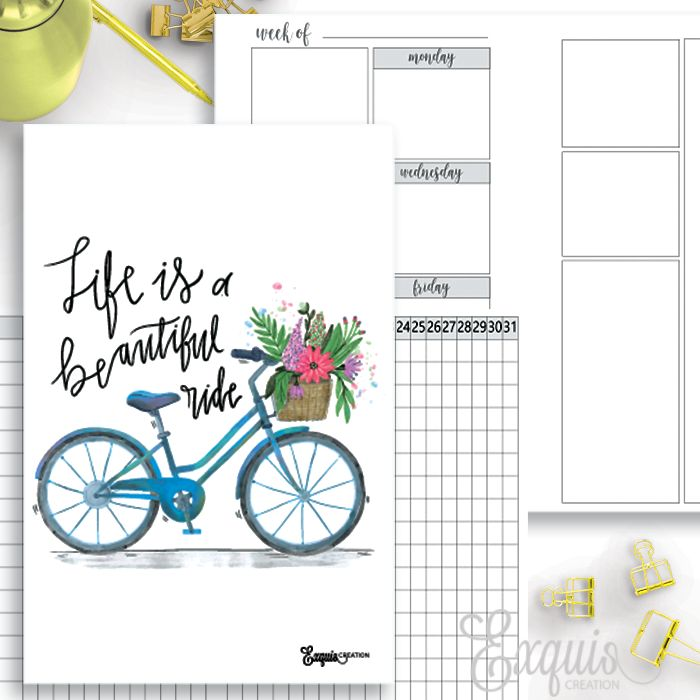 Free Travelers Notebook Printables | Exquis Creation {checkout required}