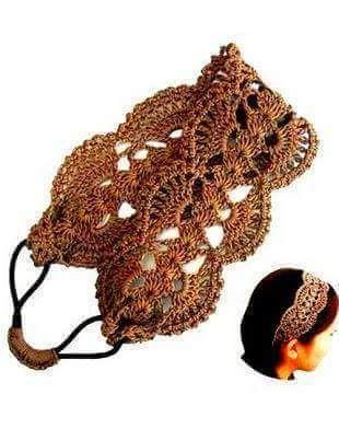 Patrón #1406: Cintillo a Crochet   CTejidas [Crochet y Dos Agujas]