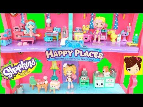 Decorando Casa de Muñecas con Muebles de Shopkins HAPPY PLACES - Juguetes…