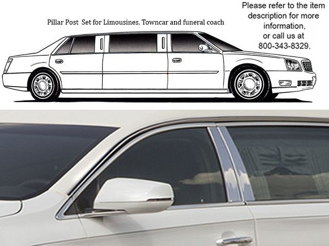 XTS S&S and SUPERIOR HEARSE 2013-2015 CADILLAC (4 pieces: Pillar Post Trim Kit ) PP53240