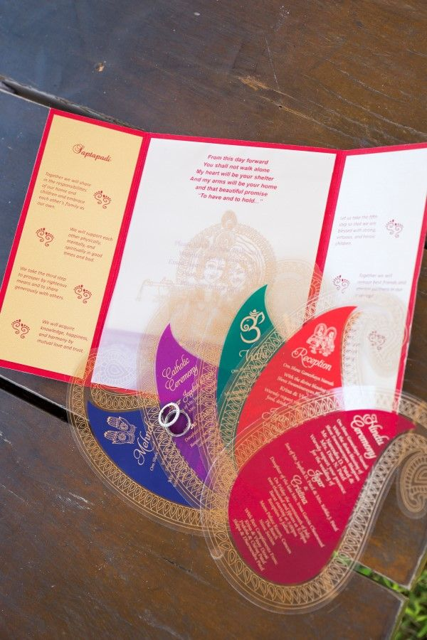 Wedding Invitation and Wedding Rings | Fusion Indian Wedding in Cancun | Adrienne Fletcher Photography @adrinfletcher