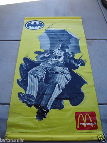 RARE Batman McDonalds Vinyl 12 ft Outdoor Penguin Banner Vintage 1992   eBay