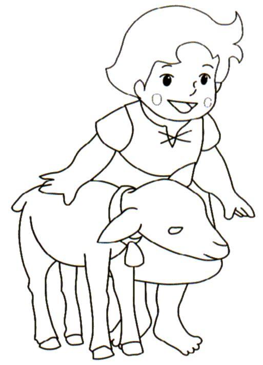 Dibujo de Heidi para imprimir y colorear (21 de 27) | mildibujos.com