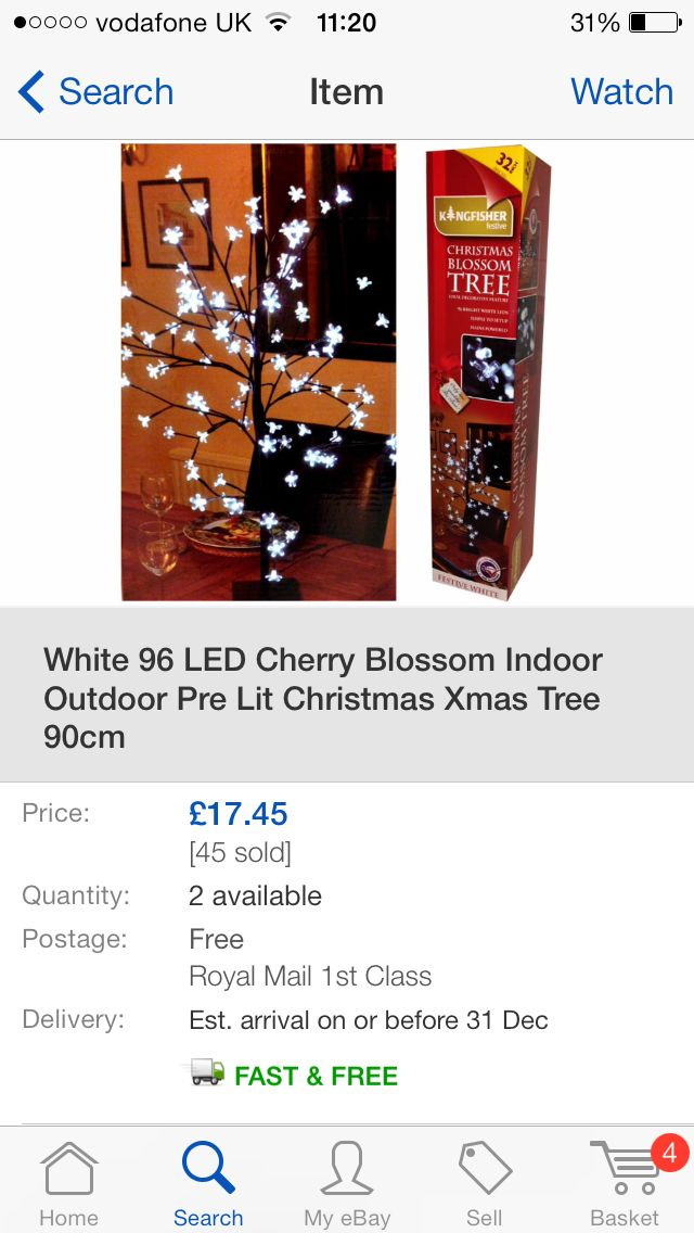 Table display Light tree