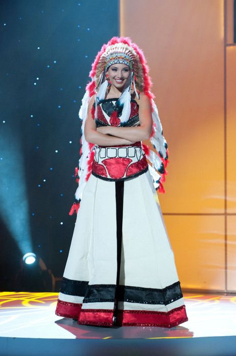 Miss Canada Is Seen Here Wearing Canada's Traditional