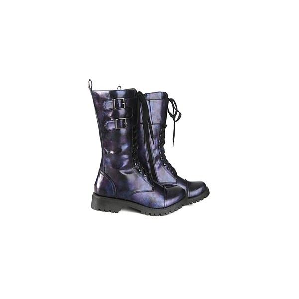 Volatile Blue and Purple Gasoline Combat Boots found on Polyvore: Gasolin Combat, Purple Combat, Volatil Blue, Polyvore Daphne, Cowboys Boots, Boots 60, Purple Gasolin, Combat Boots, Daphne Zombies