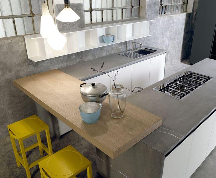 Oltre 25 fantastiche idee su cucine bianche moderne su pinterest progettazione di una cucina - Cucine bianche e legno ...