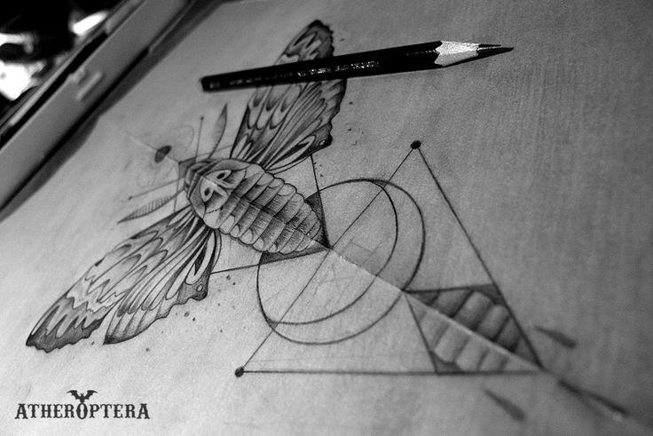 artheropterascustomtattoos:    Moth tattoo design for my buddy Jamie