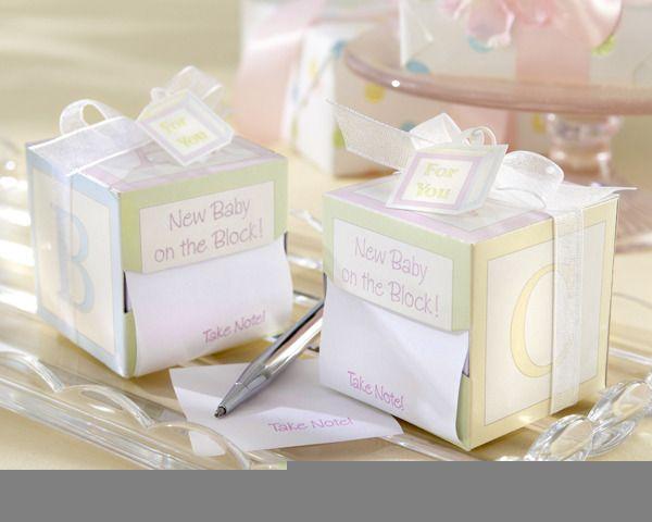 """Take Note! New Baby On the Block!"" Sticky Notes - http://www.weddingfavoursaustralia.com.au/products/take-note-new-baby-on-the-block-sticky-notes"