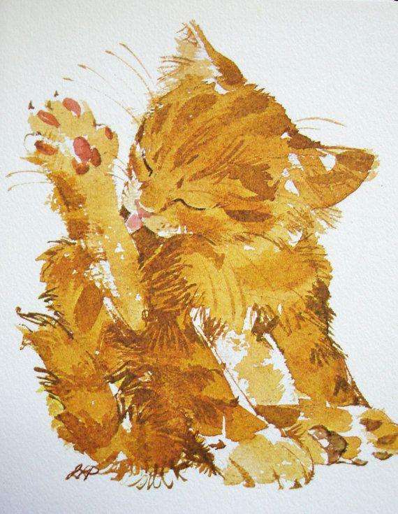 années 1970 notecard définie : chatons par courant