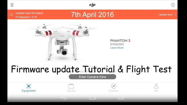 dji phantom 3 standard firmware update tutorial