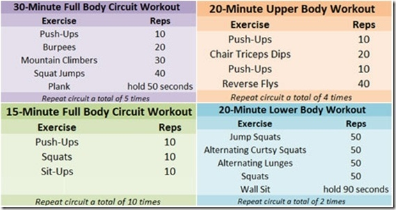 Fitness Workout Routines At Home