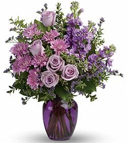 """""""Together At Twilight"""" is a gorgeous bouquet of pinks and purples! Want to see more bouquets like this? Visit: http://www.bestflowers.com/"""