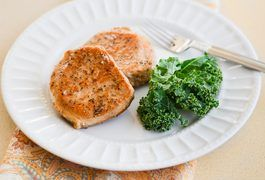 Frying isn't the only way to cook pork chops on your stovetop. Pan-searing gives this juicy cut of pork a crusty, well-browned interior; you simply cover the pan to finish cooking the chops to perfection. It also makes for a quick and easy dinner option. You can enjoy your pork chops just as they are or with a complementary addition, such as...