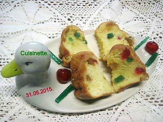 recette Gâteau au mascarpone et fruits confits.