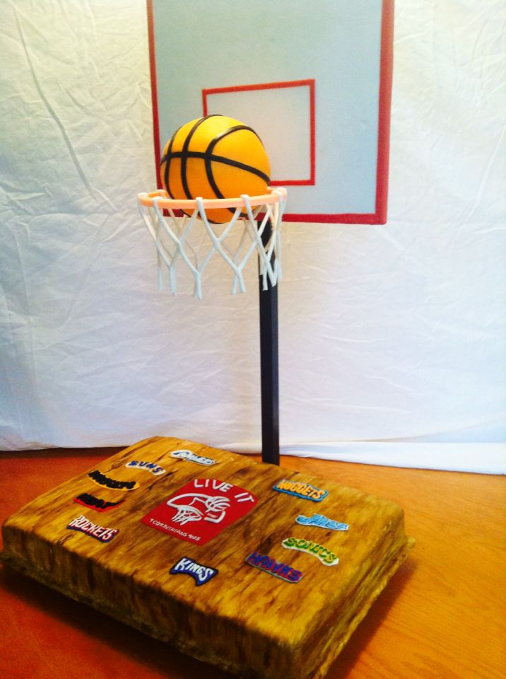 The Gravity Defying Basketball Cake I Did Last Week The