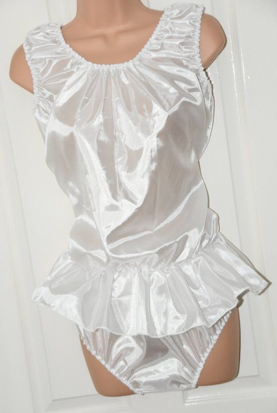 f9723996b464 Soft skirted romper panties teddy satin sissy delight | Etsy ...