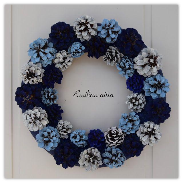 käpykranssi  kranssi  pine  pine cone wreath winter wreath