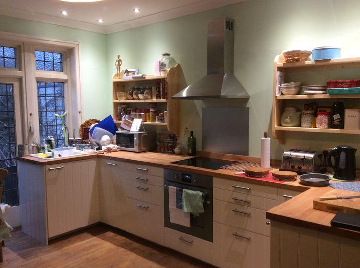 Handmade kitchen shelves
