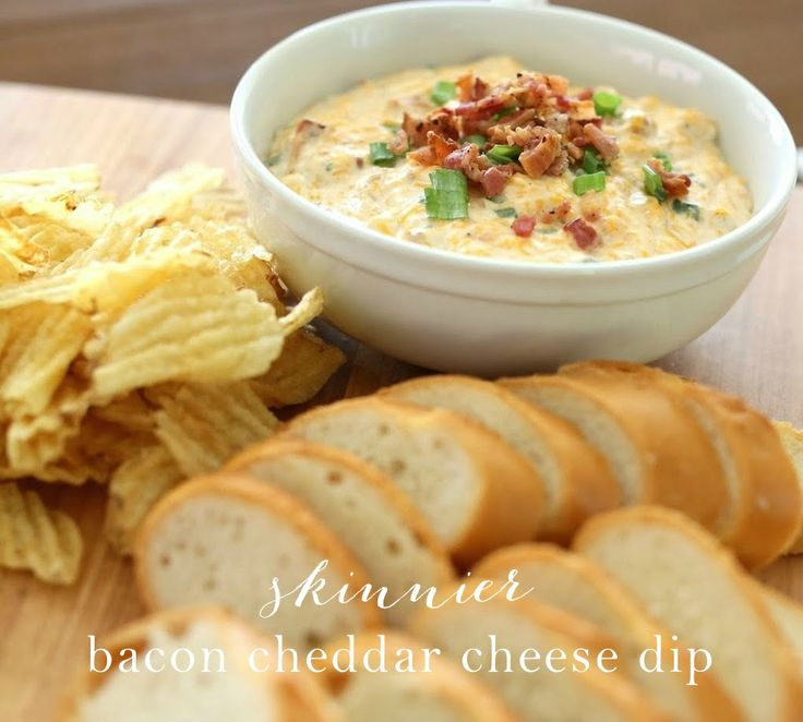 I lightened up one of my favorite cheese dips! Get the skinny version of my bacon cheddar cheese dip recipe that has everyone raving.