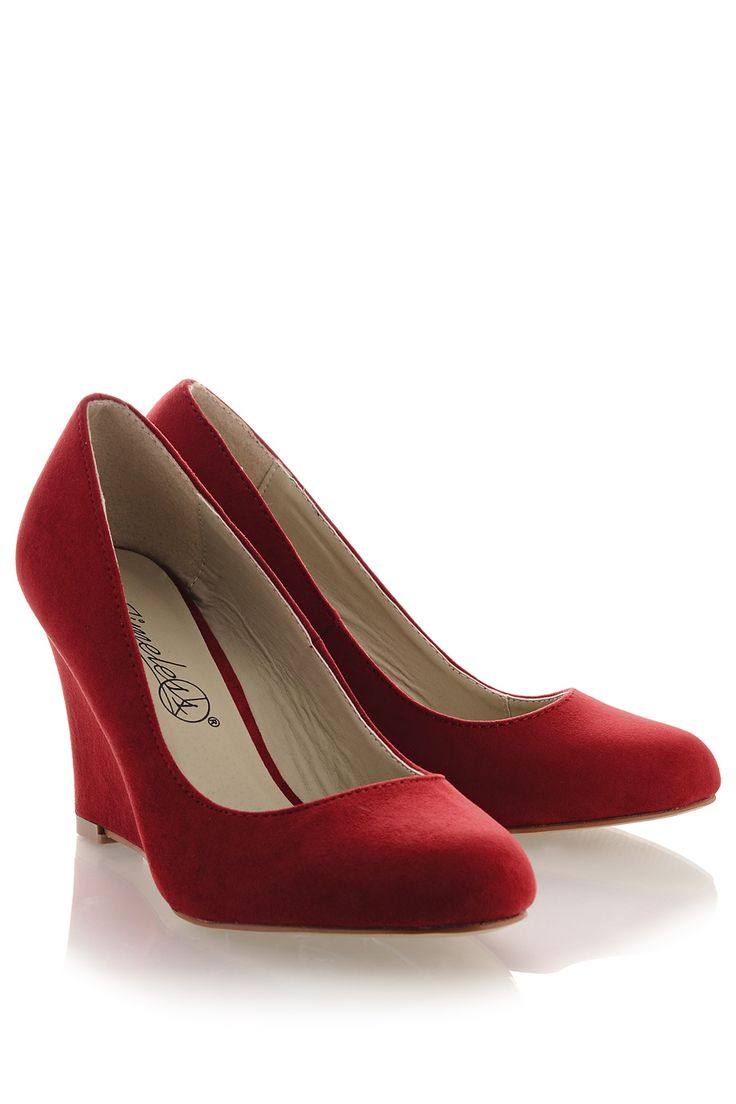 #TIMELESS 	 TILDA Red Suede Wedges   Price: € 54.90