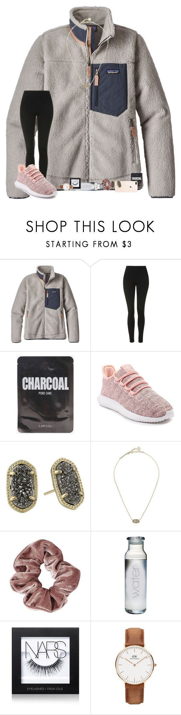 """""""•6 months•"""" by mackenzielacy814 on Polyvore featuring Patagonia, Topshop, adidas, Kendra Scott, Susquehanna Glass, NARS Cosmetics and Daniel Wellington"""